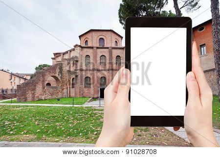 Tourist Photographs Basilica San Vitale In Ravenna