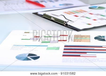 Colorful Graphs, Charts, Marketing Research And Business Annual Report Background, Management Projec