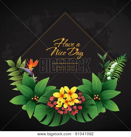 blossom tropical flower background 12