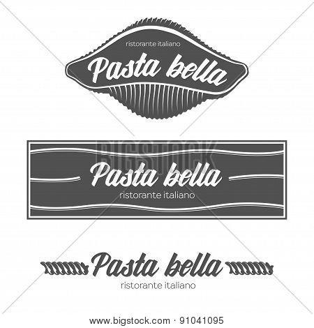 Italian pasta restaurant badges