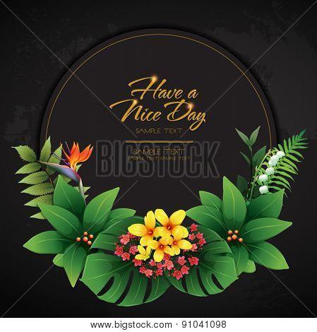 blossom tropical flower background 11