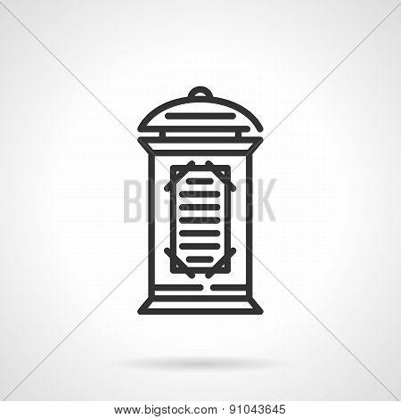Advertising column black line vector icon