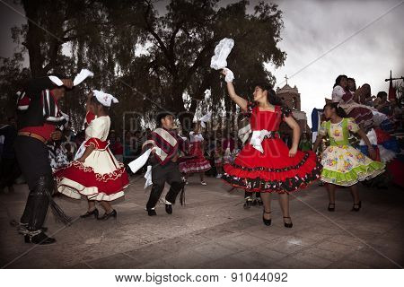 Chilean Typical Dancers