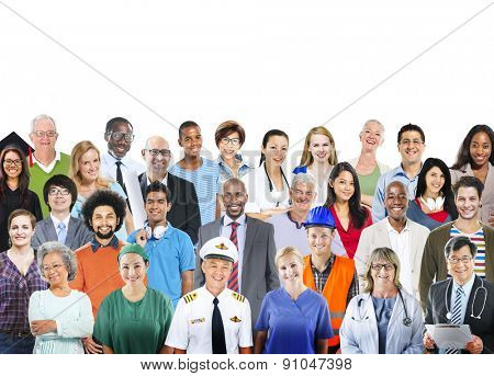 Diverse Group of People Professional Occupation Togetherness Society
