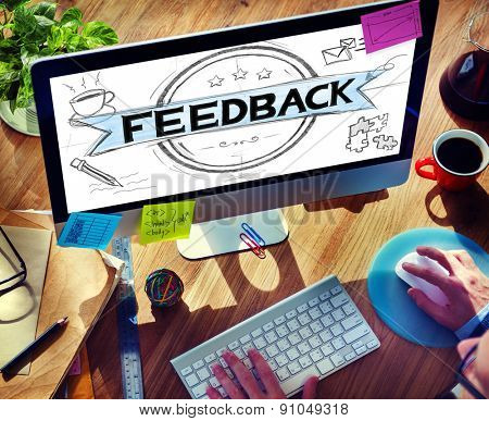 Feedback Evaluation Reflection Response Result Concept poster