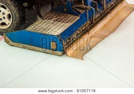 The Machine For Resurfacing Ice In Stadium