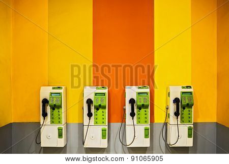 Payphone On The Wall Public