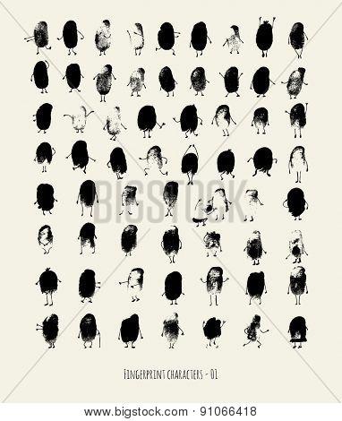 Fingerprint characters - 01