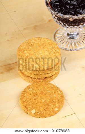 Cereal Cookies And Jam