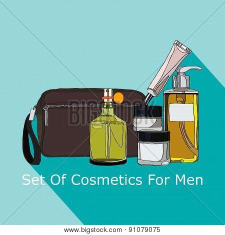 set of cosmetics for men