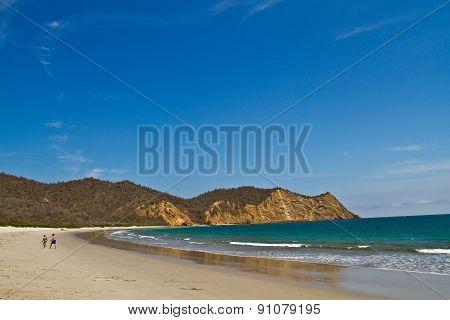 Amazing summer landscape in Los Frailes beach, Ecuador