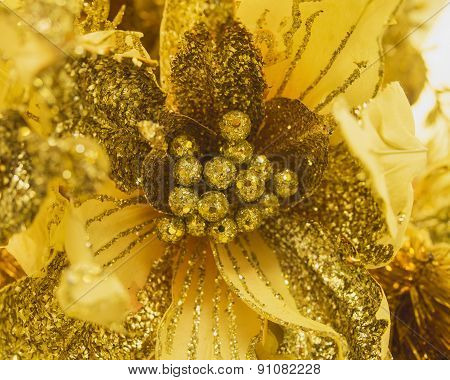 Flower for decoration Gold and Glitter