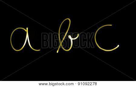 Flourescent letters abc