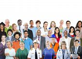 Diverse Group of People Professional Occupation Togetherness Society poster