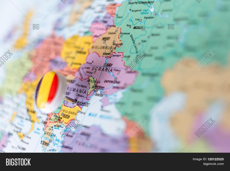Map Europe Pin Romania Image & Photo (Free Trial)   Bigstock