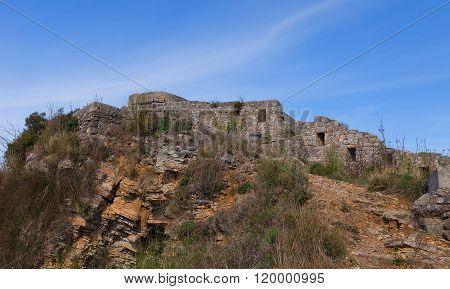 Ruins Of Mogren Fort (1860) Near Budva, Montenegro
