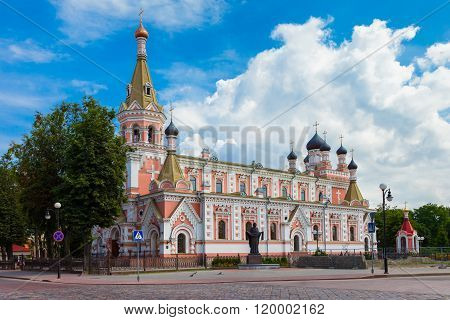 Holy Intercession Cathedral In Grodno, Belarus.