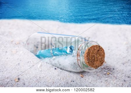 Message In A Bottles At The Beach