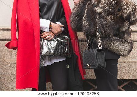 Detail Of Bag At Milan Women's Fashion Week Fall/winter 16/17