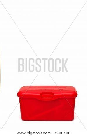 Red Diaper Wipes Box