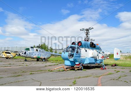 The Kamov Ka-27 Ps Helicopter Of Aviation Of The Russian Fsb Border Troops In Pulkovo Airport In Sai