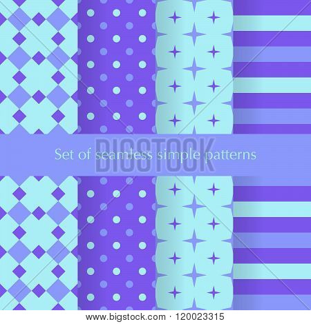 Seamless Ancstract Geometry Pattern With Stars, Squares, Dots Anf Stripes.