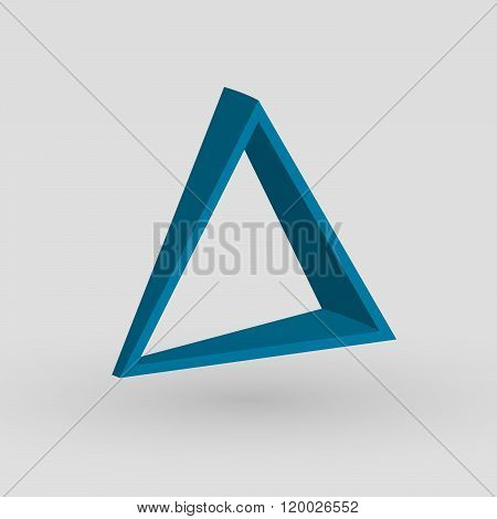 Pyramide shape logo icon vector. Triangle template design. Geometric shape, triangle icon. Tehnology icon, technology logo, vector logo, web, abstract shape. Web logo.