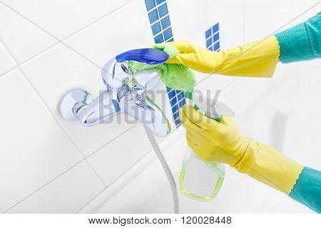 Wash faucet spray.