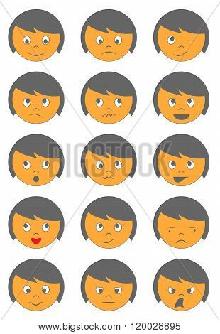 Cute Emoticons Characters