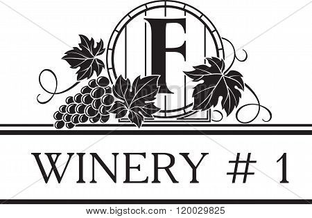Logo Template For Winery Or Wine Shop.