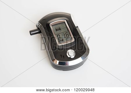 Breath Alcohol Tester Isolated On White Background