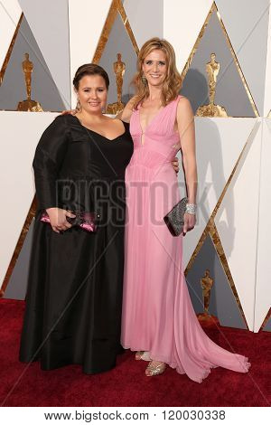 LOS ANGELES - FEB 28:  Nicole Rocklin, Blye Pagon Faust at the 88th Annual Academy Awards - Arrivals at the Dolby Theater on February 28, 2016 in Los Angeles, CA