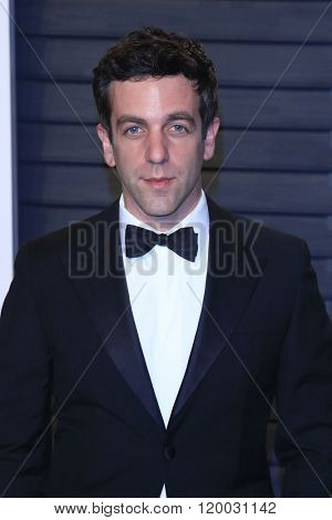 BEVERLY HILLS - FEB 28: BJ Novak at the 2016 Vanity Fair Oscar Party on February 28, 2016 in Beverly Hills, California
