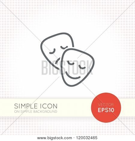 Thin line design vector universal masks icon. Elements for user interface.