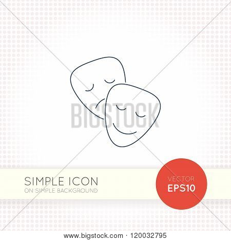 Extra thin line design vector universal masks icon. Elements for user interface.