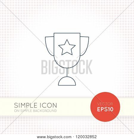 Extra thin line design vector universal goblet icon. Elements for user interface.