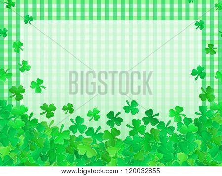 Patricks Day Green Clover Background Cartoon 3
