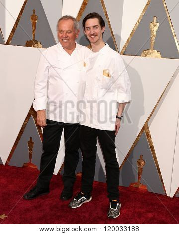 LOS ANGELES - FEB 28:  Wolfgang Puck, Byron Puck at the 88th Annual Academy Awards - Arrivals at the Dolby Theater on February 28, 2016 in Los Angeles, CA