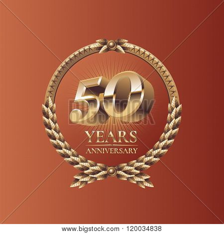 Fifty years anniversary celebration vector design