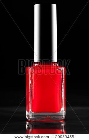 Red Nail Polish Closeup