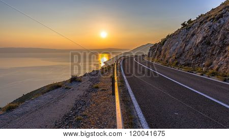 Road To Orange Sunset
