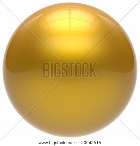 Sphere button round ball yellow geometric shape basic circle solid figure simple minimalistic element single drop golden shiny glossy sparkling object blank balloon atom icon