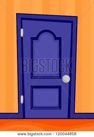 Blue door cartoon style & Blue Door Cartoon Style Vector \u0026 Photo   Bigstock