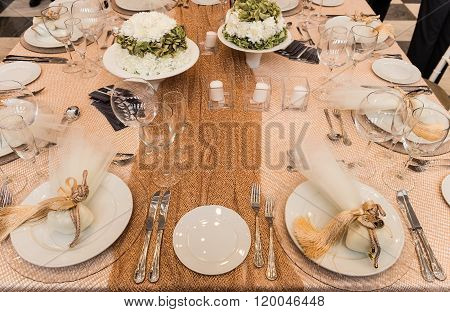 bridal decorated table