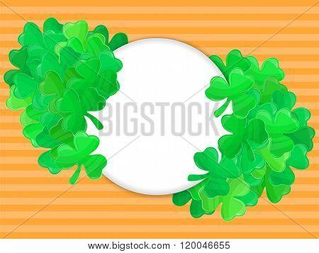 Patricks Day Green Clover Frame Cartoon 2
