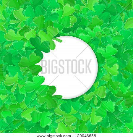 Patricks Day Green Clover Frame Cartoon White 2