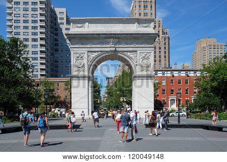 Washington Square Park In New York, Ny...