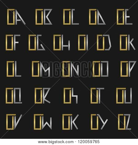Letter O with alphabet