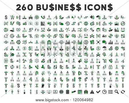 260 Flat Vector Business Icons