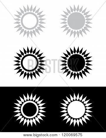 Abstract Sunshine Frame and Design Element Set